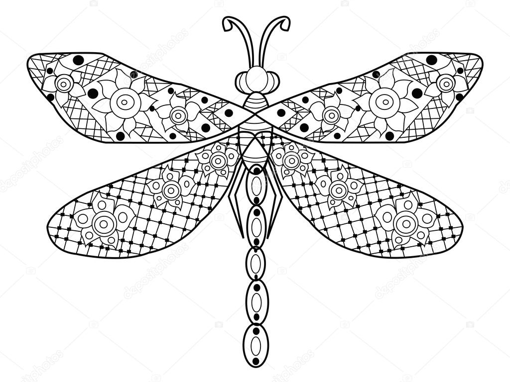 Pin Dragonfly Mandala Coloring Pages Pictures On Pinterest