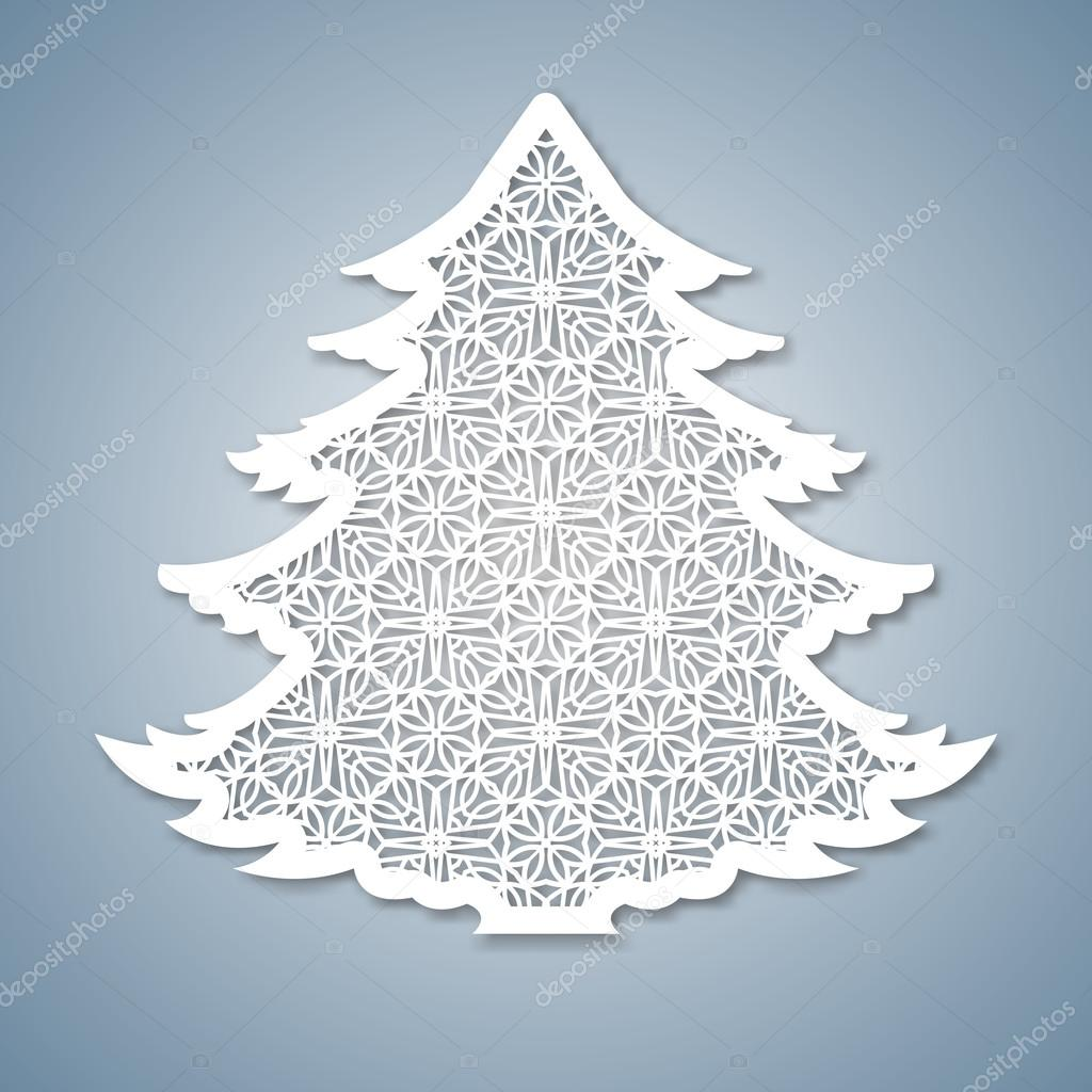 white christmas tree decoration