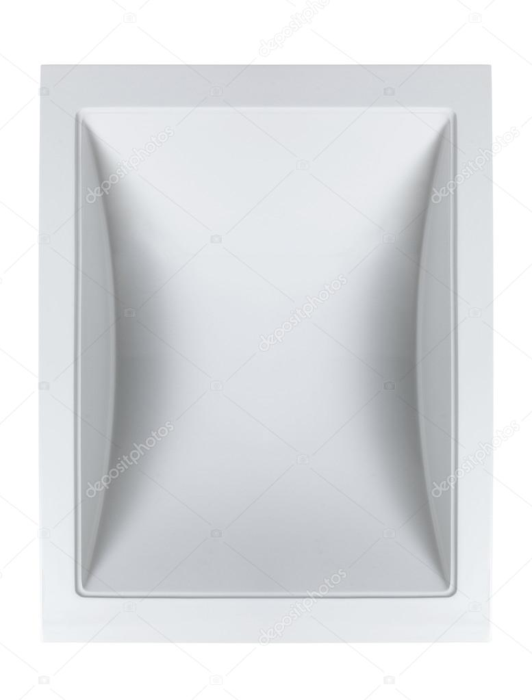 Bathroom sink top view - Top View Of Ceramic Bathroom Sink Isolated On White Background Stock Photo 100776206
