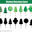 ������, ������: Match the shadow children game