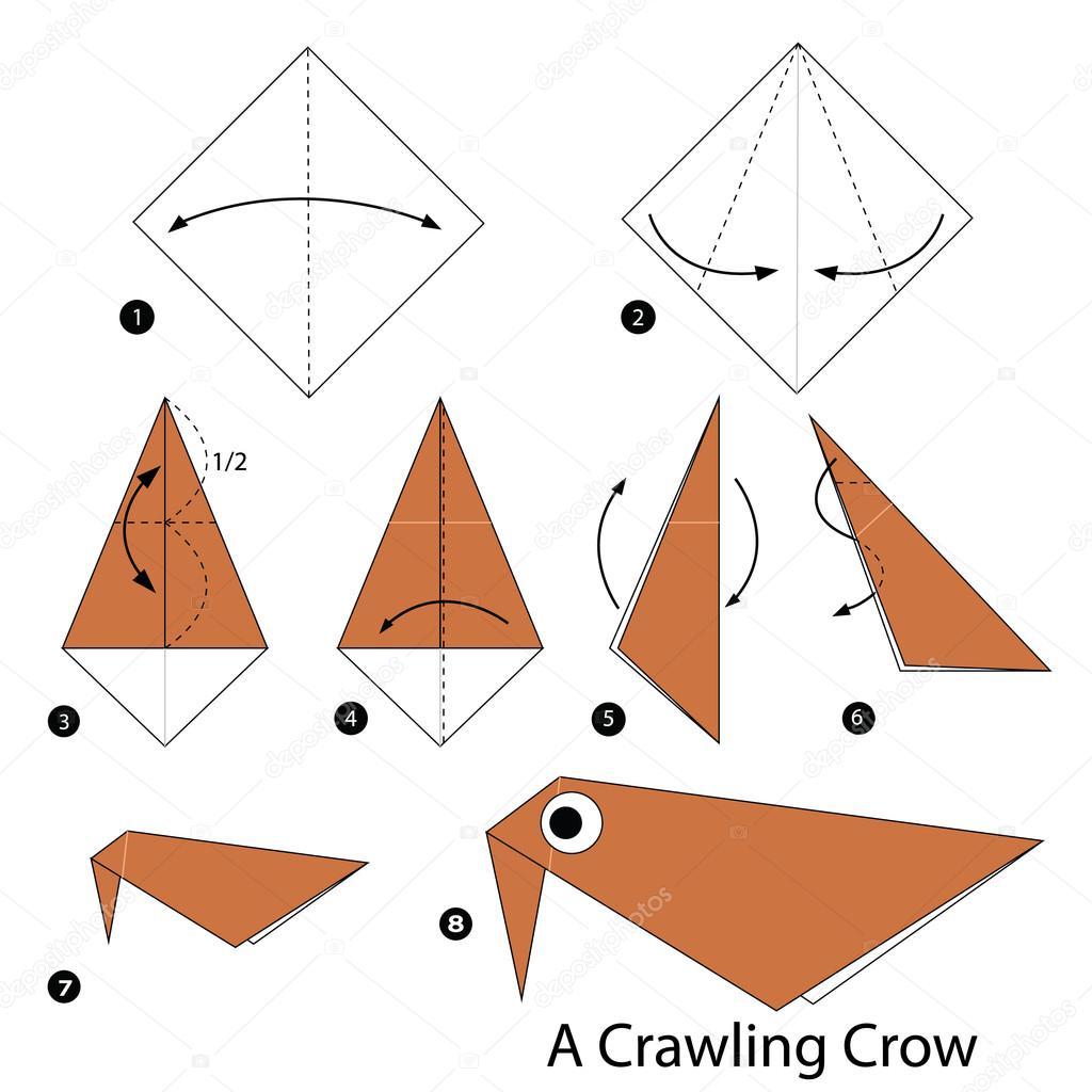 Как сделать орла из бумаги оригами