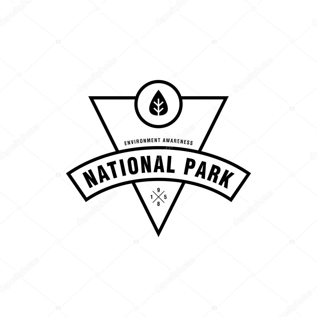 vintage national park outdoor symbol environmental awareness a great example of natural awarrenes deer hunter duck hunter business vector by srirejeki