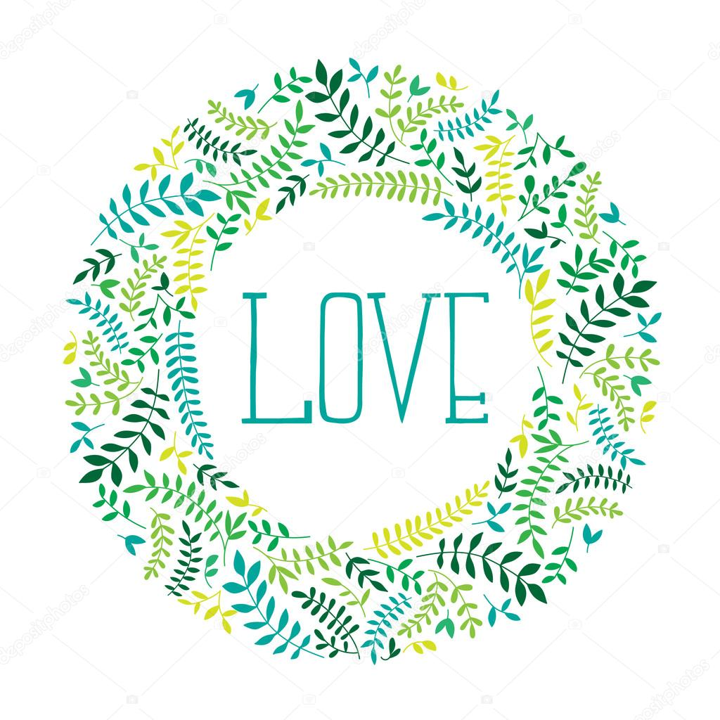 Round frame with decorative branch vector illustration stock - Spring Wreath With Branches Vector Drawn Branches On Round Frame Stock Photo 99614738