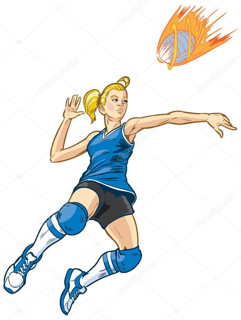 Рисованный волейболист