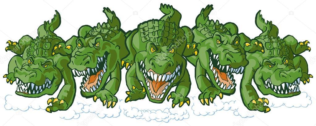 Grupo De Cocodrilo Medio Dibujos Animados Mascotas Carga