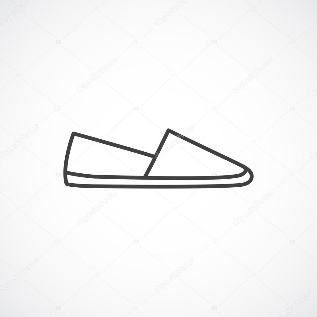 Símbolo lineal de alpargatas. Icono de vector línea \u2014 Vector de stock 121368524