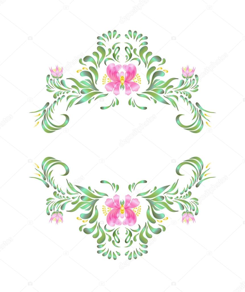 Vector round frame with pink flowers on white background in pastel - Round Frame With Flowers On White Background In Pastel Pink Colors Floral Greeting Card Vector By Lesichkalll27 Gmail Com