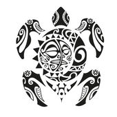 schildkr te in maori tattoo stil vektor illustrationen. Black Bedroom Furniture Sets. Home Design Ideas