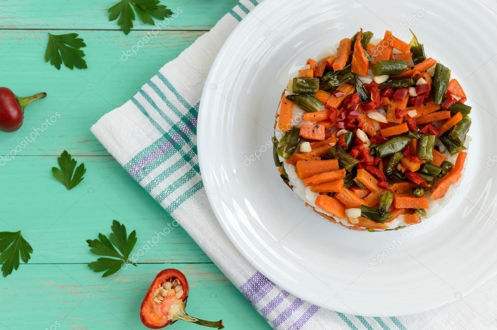 Рисово овощная диета