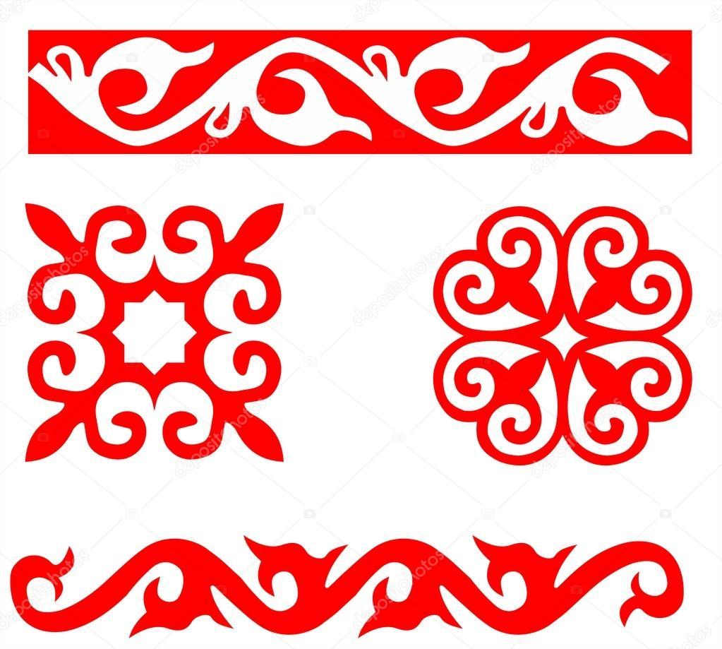 Казахские орнаменты для вышивки 37