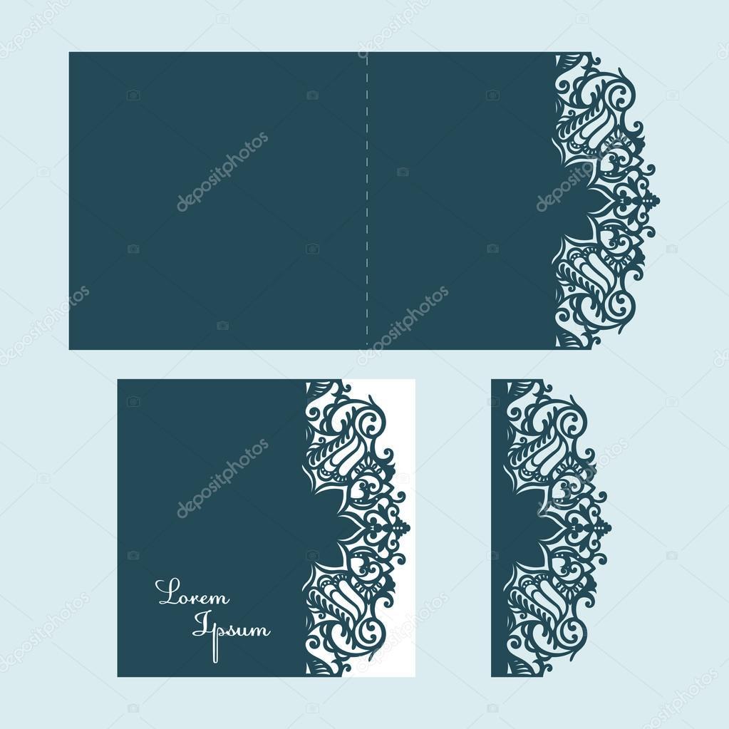 Beautiful laser cut invitation card for wedding. — Stock ...