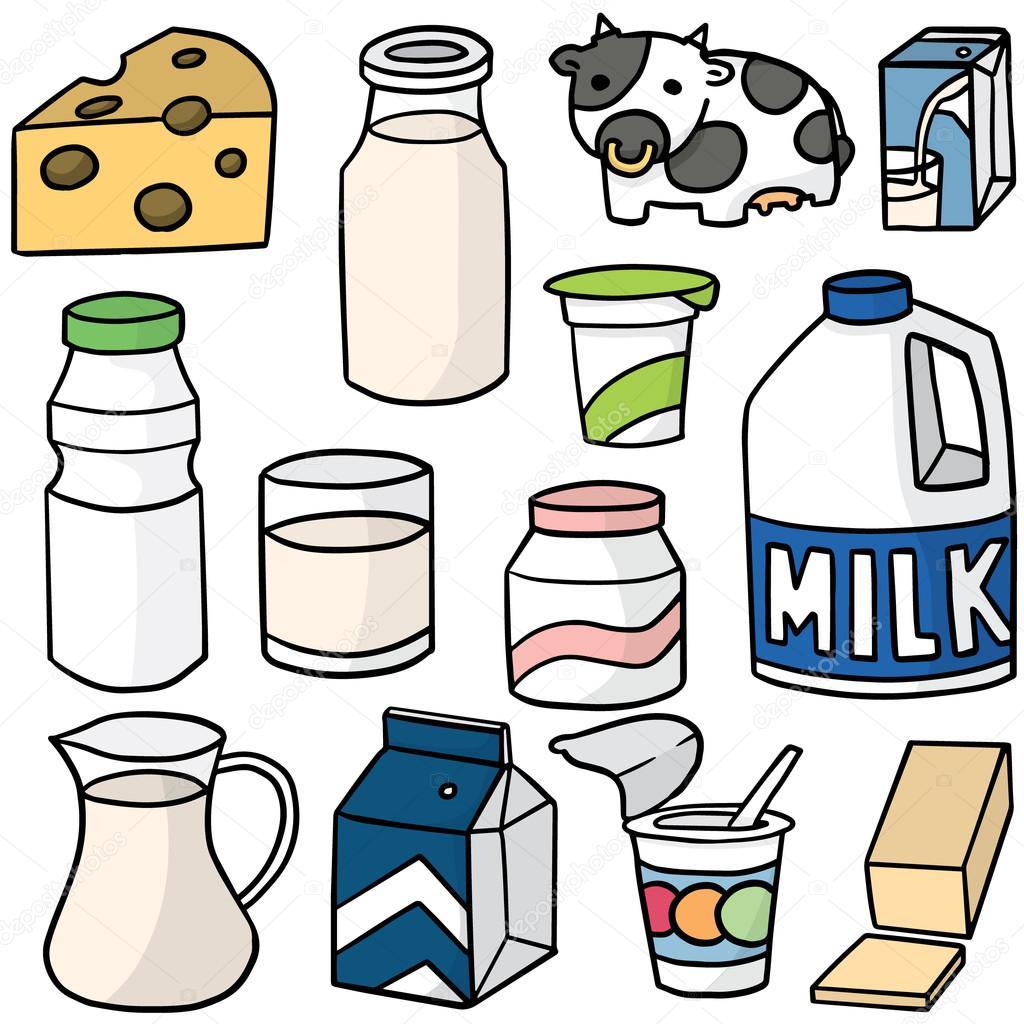 conjunto de vector de productos l u00e1cteos vector de stock dairy clipart black and white daily clipart