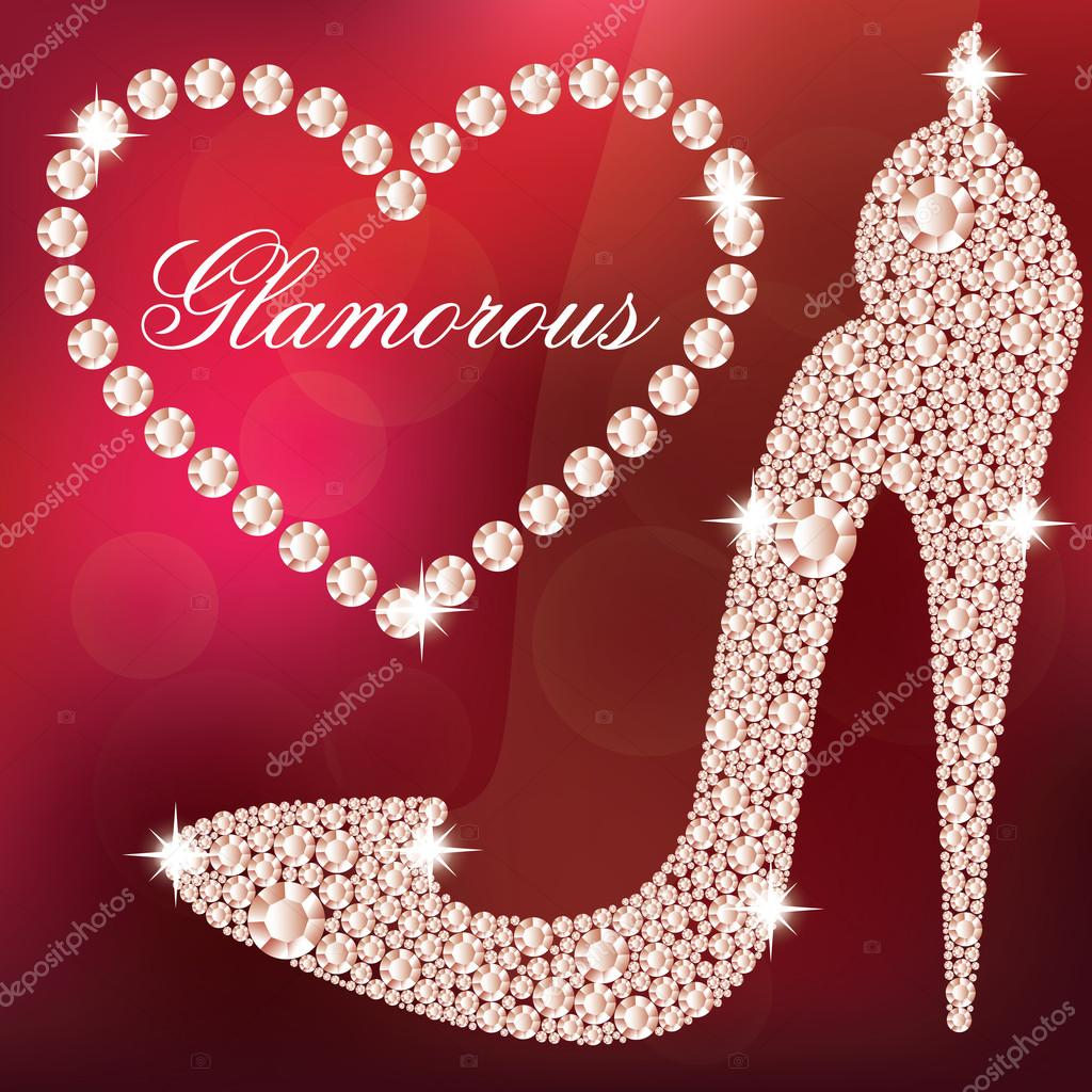 Red Heels With Diamonds