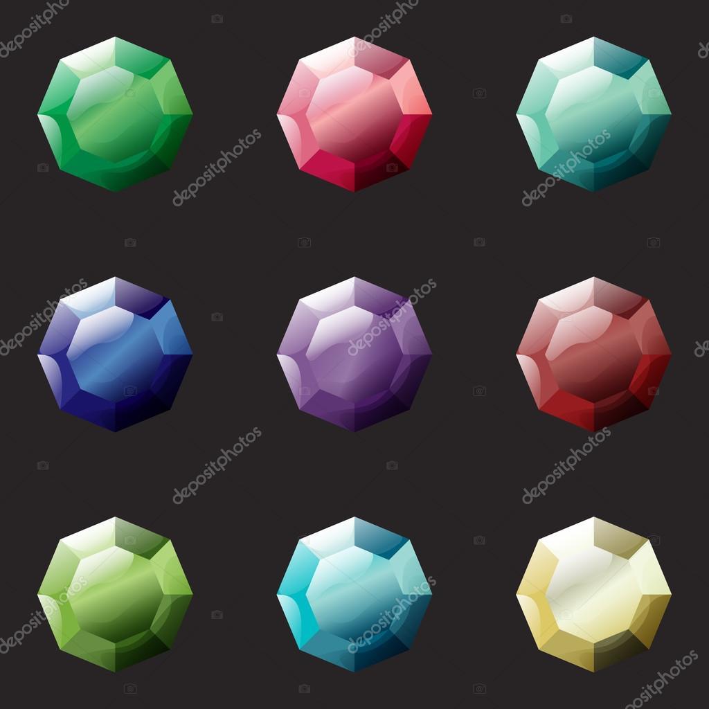 Цвета драгоценных камней