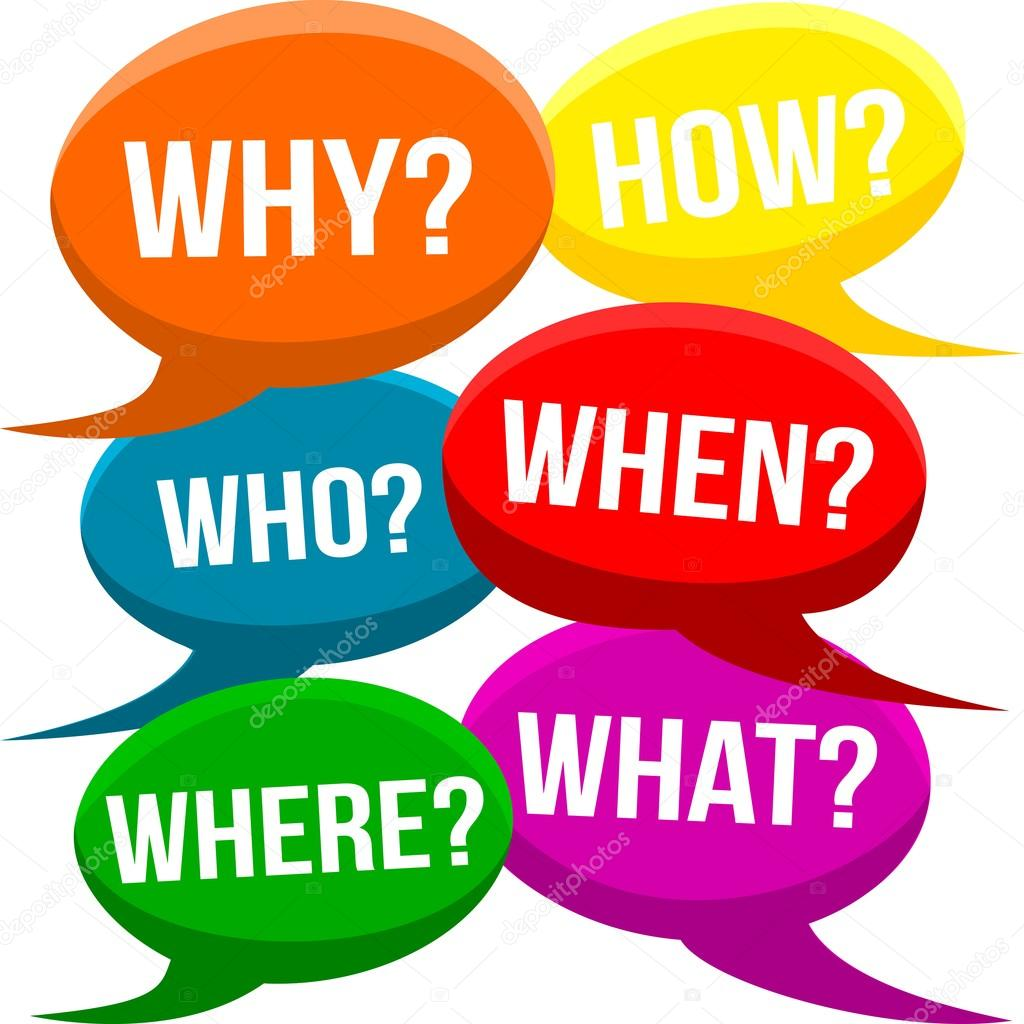 who what where when and why They are also known by the less prosaic '5w1h' and are useful for general questioning and (just keep asking 'why' to find root cause - often around 5 times.
