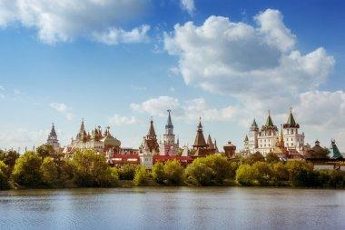 Beautiful russian landscape of Izmailovsky kremlin