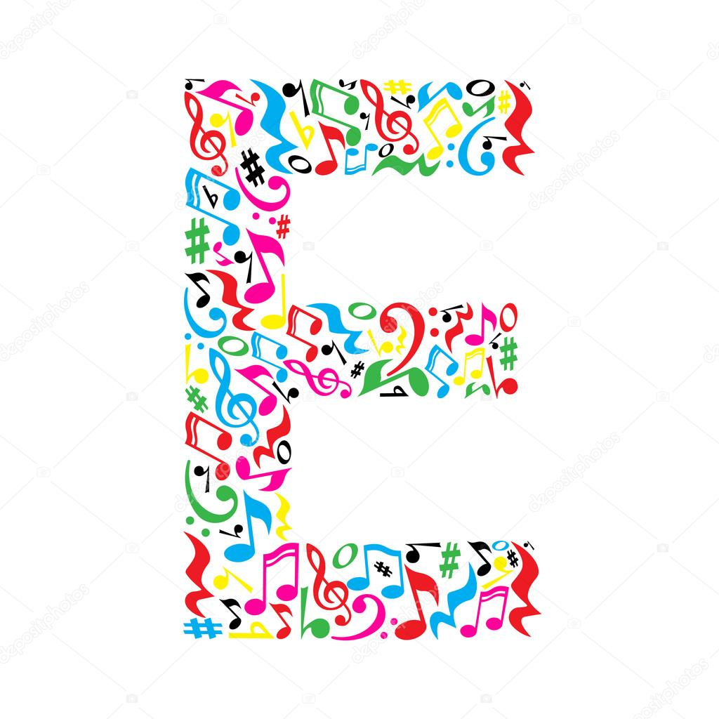 lettera fatta di note musicali vettoriali stock clip art of musical notes in a circle clipart of music notes free