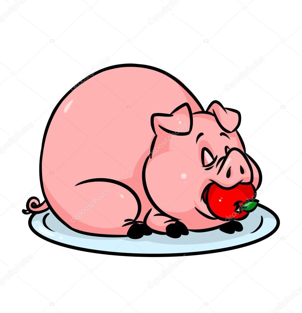 dibujos animados de manzana de bandeja cerdo fotos de animal clip art free printable animal clip art black and white