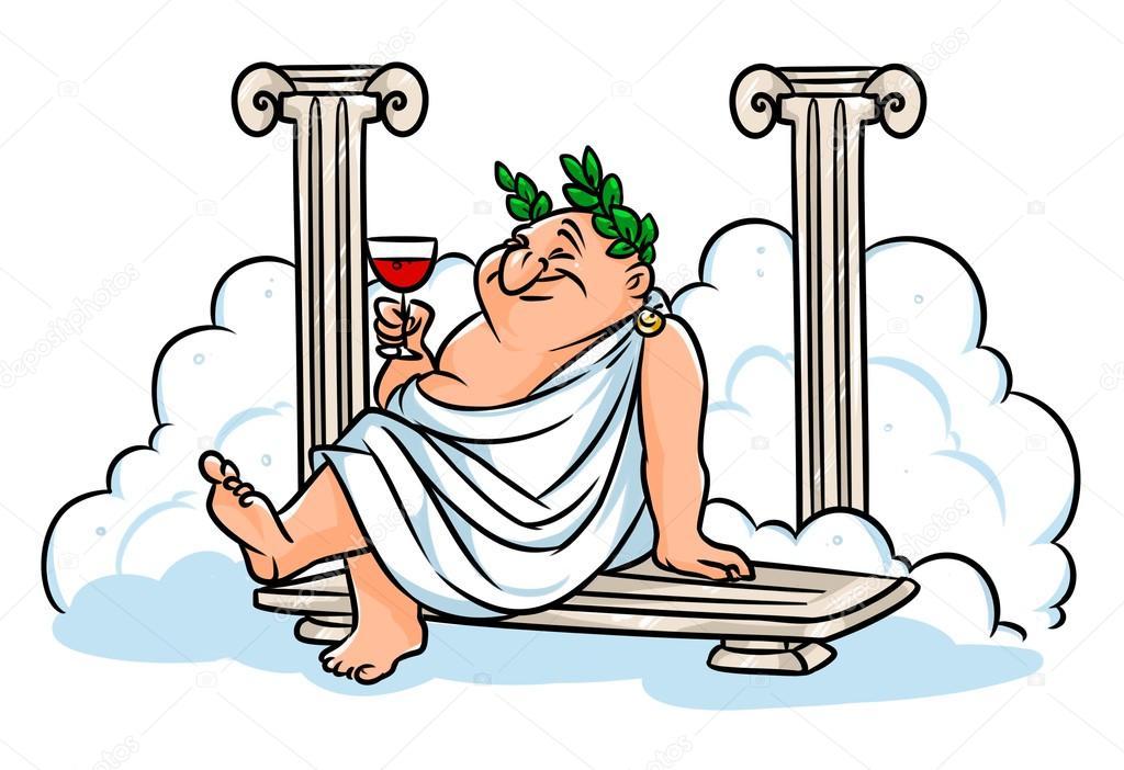 Dibujos animados de baños de vapor de restos romanos ...