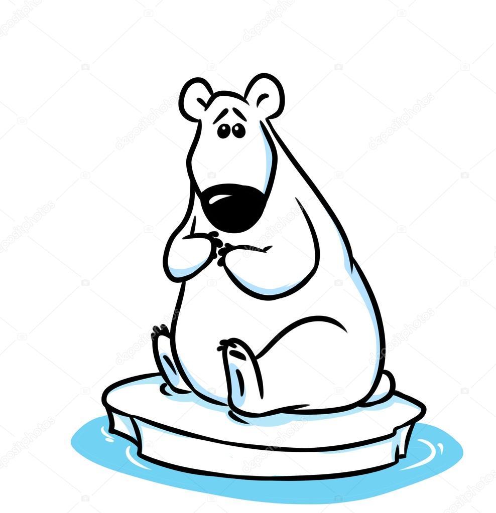 ours polaire banquise du p le nord dessin anim photo 105872066. Black Bedroom Furniture Sets. Home Design Ideas