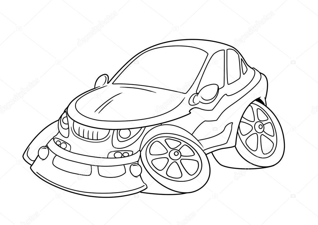 Bil m larbilder cartoon stockfotografi efengai 105872458 for Stock car coloring pages