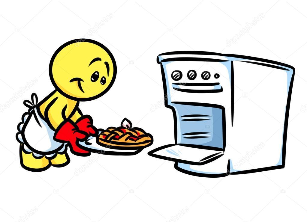 Cocinar pastel de dibujos animados de la estufa de la for Cocinar imagenes animadas