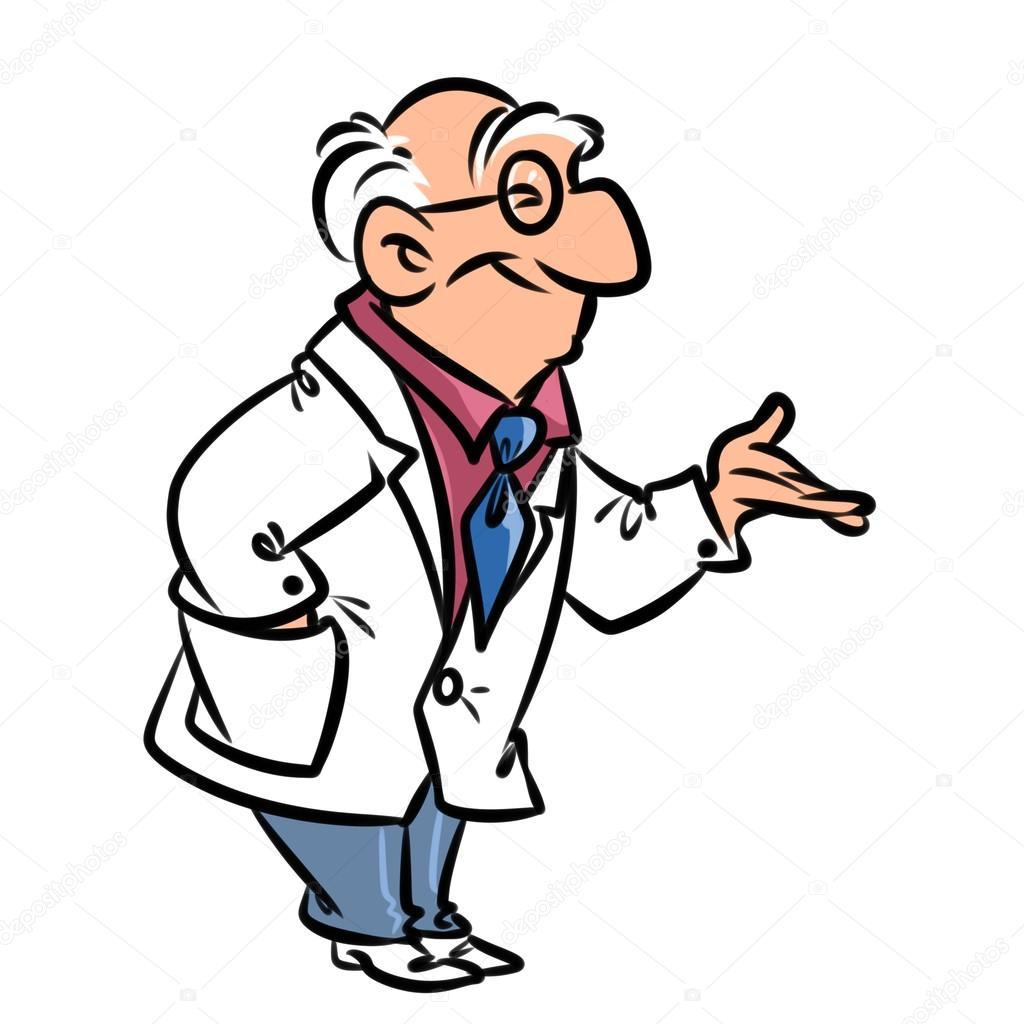 Doktor karikatür çizimi — stok foto efengai