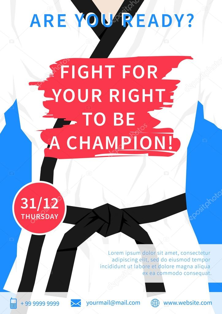 Karate competition flyer template Vector AleksOrel – Competition Flyer Template