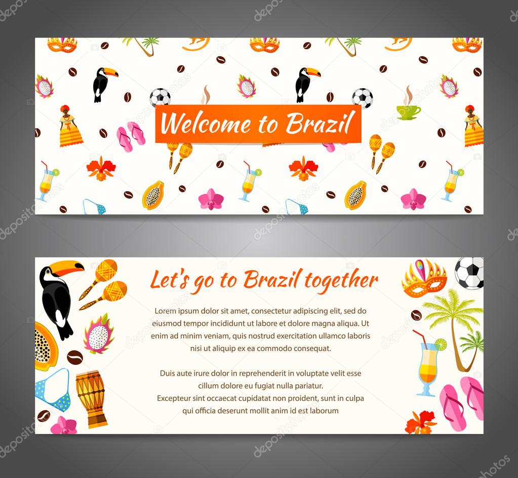 Gmail theme template -  Characters And Space For Text Vector Illustration Template With South America Icons In Flat Style Vector By Kurmanstock Gmail Com