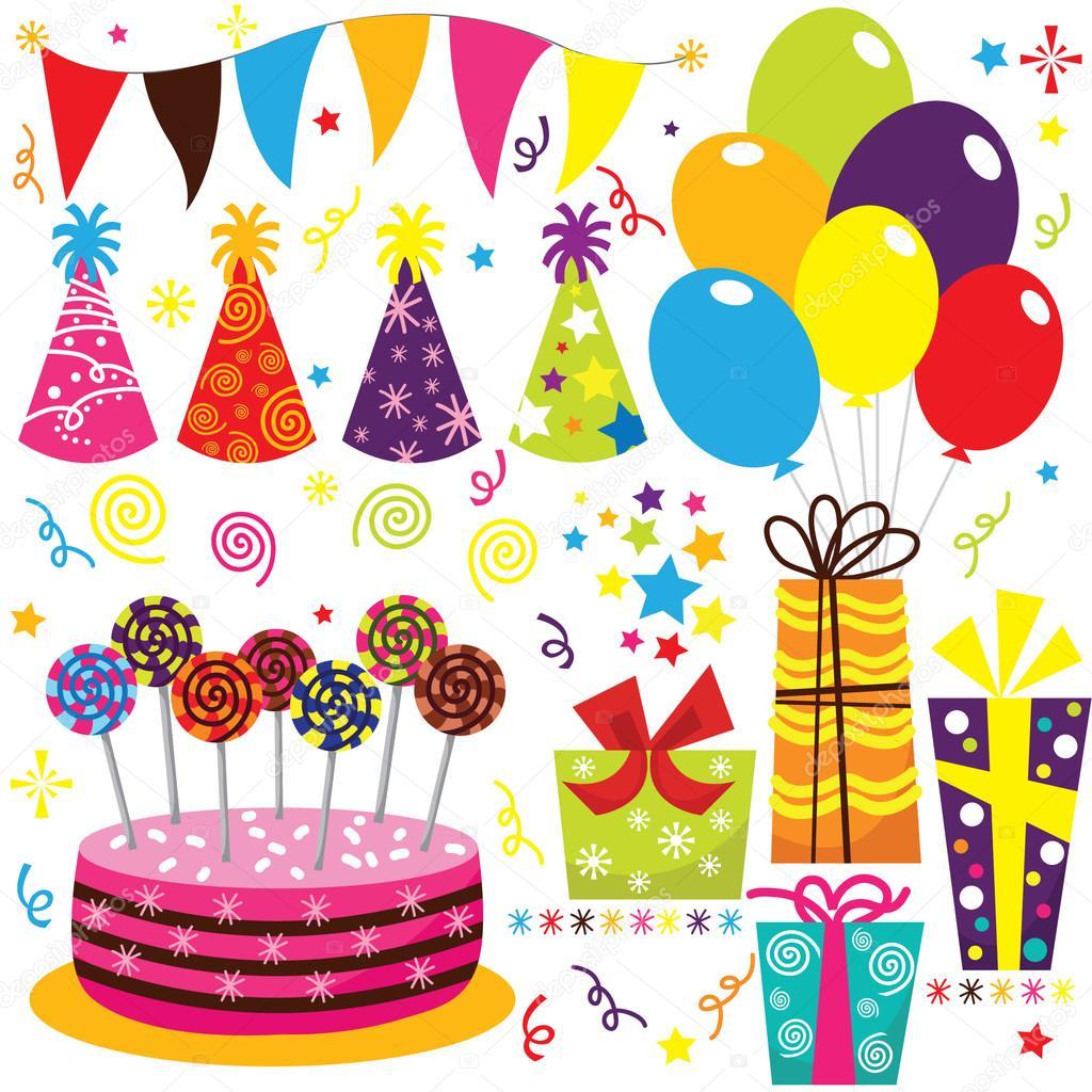 Поздравление с днем рождения с атрибутами