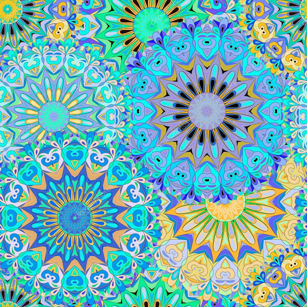 Mandala de colores de patrones sin fisuras fotos de - Colores para mandalas ...
