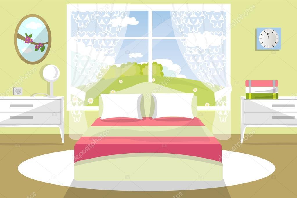 Illustrazione di vettore dell 39 interiore della camera da for 3 piani casa in stile ranch da camera da letto