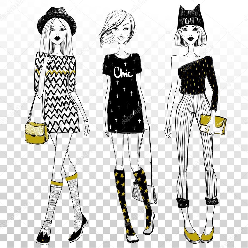 Рисовать девушек в модной одежде