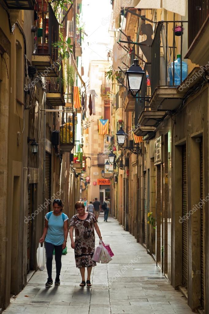 Barcelone espagne 29 septembre 2014 ruelle dans le for Centros de jardineria barcelona
