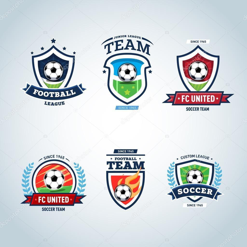soccer logo football logo � stock vector 110765552
