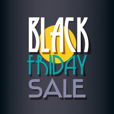 Black Friday sale inscription design