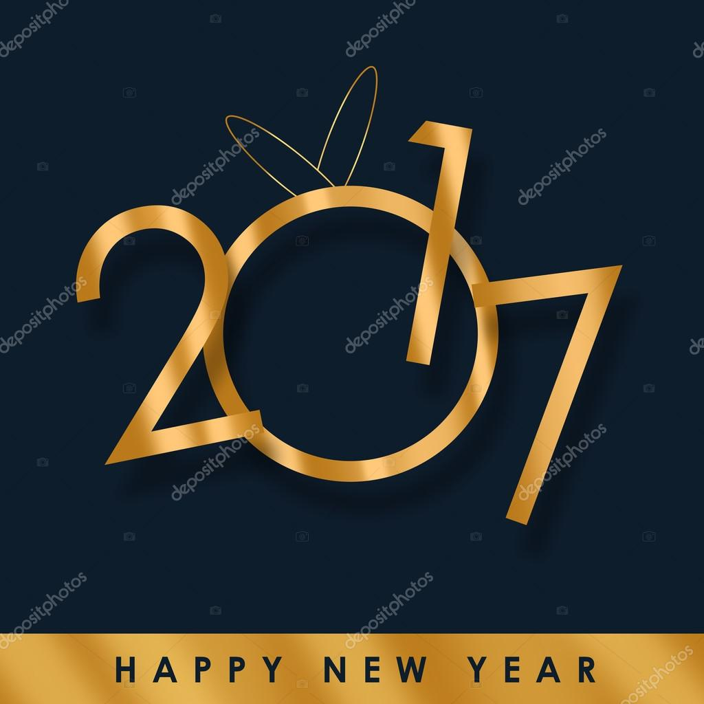 Happy New Year 2017 background — Stock Photo ...