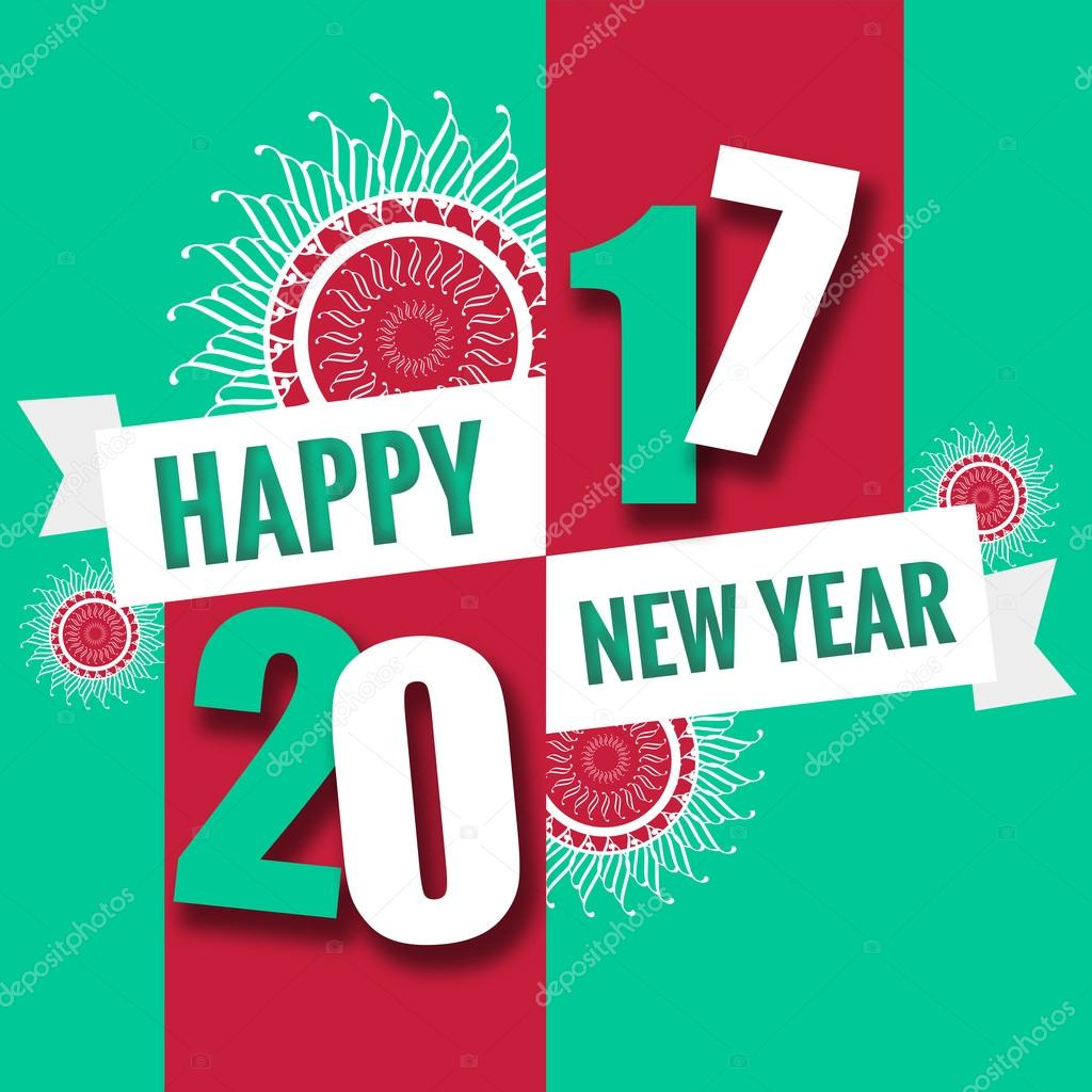 Happy new year 2017 theme — Stock Photo © gooddesign10 ...