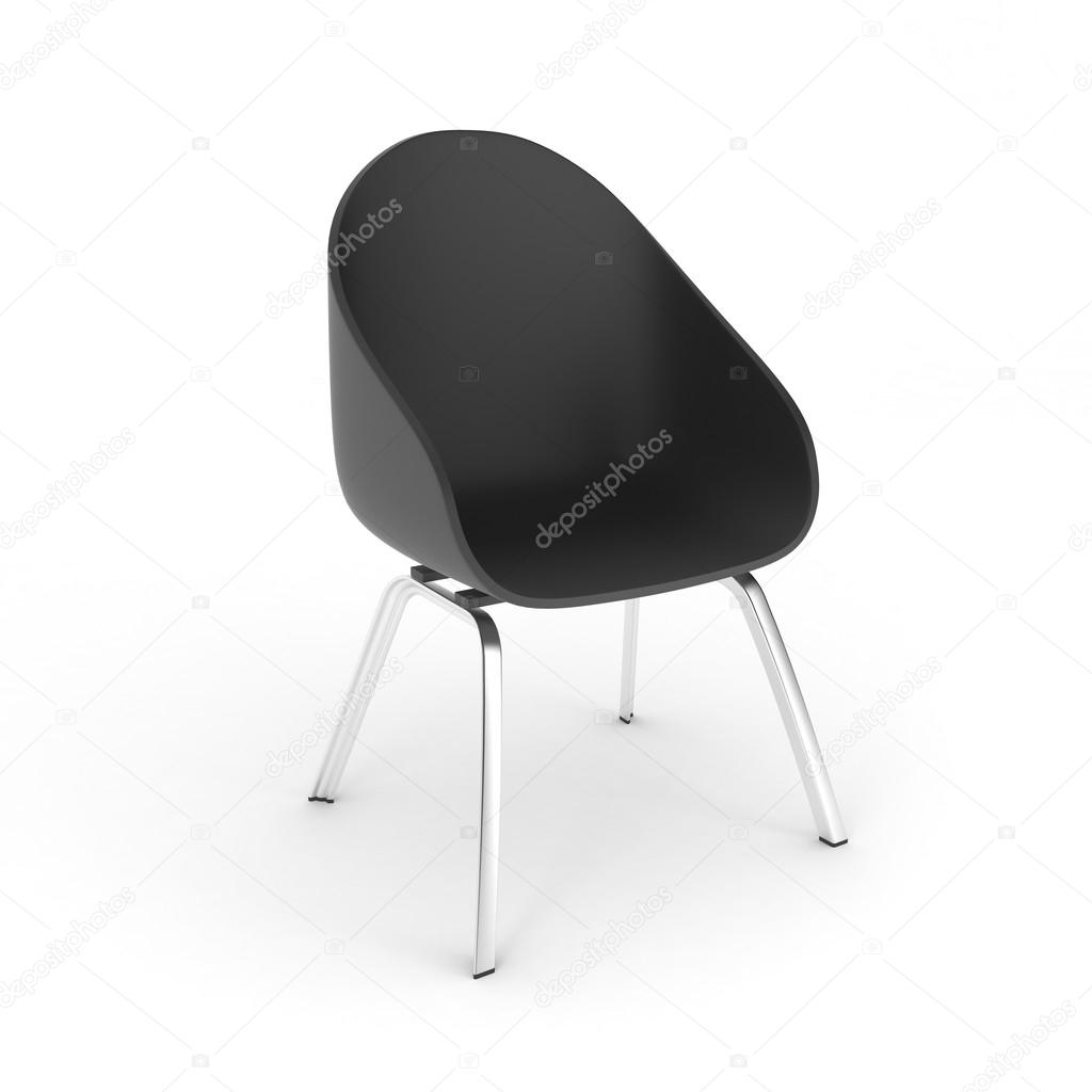 Plastic chair metal legs - Plastic Chair With Metal Legs Isolated Stock Photo 117943164