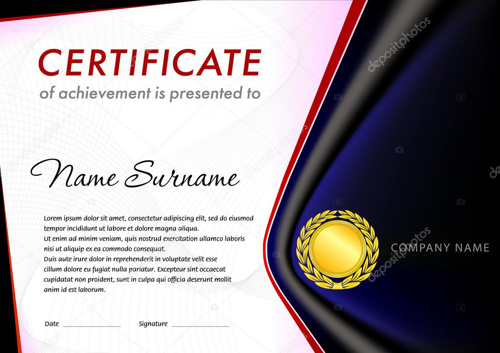 empty certificate template � stock vector 169 tedgun 119203980
