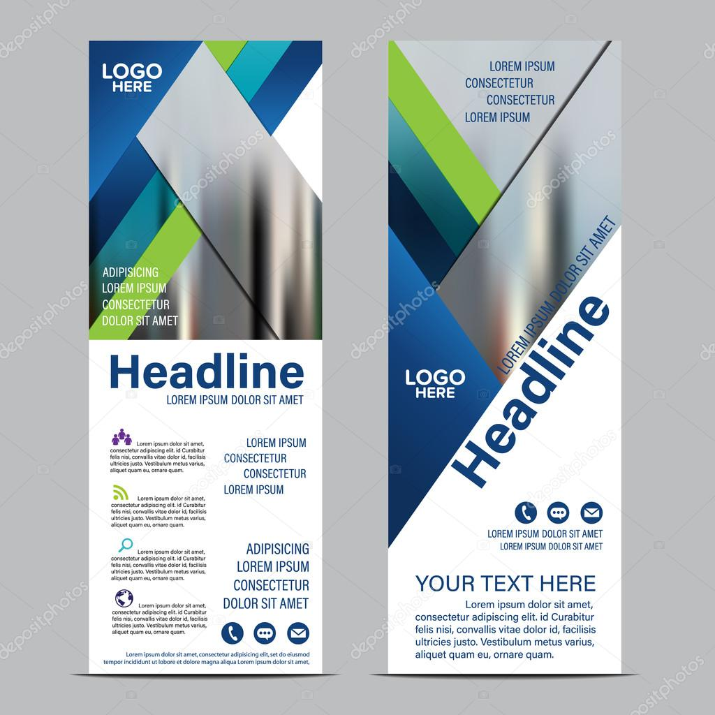 roll up layout template flag flyer banner backdrop design vector roll up layout template flag flyer banner backdrop design vector illustration background stock