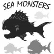 Постер, плакат: Sea monsters set
