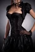 Gothic Mädchen im viktorianischen Stil Korsett