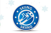 Skiing signsport badge