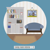 Living room interior Flat icon for you design