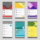 Set of user interfaces in material design style template for mail app