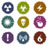 Hazard Sign Vector Web icons