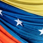 Постер, плакат: Draped flag of Venezuela