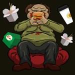 Постер, плакат: Overeating and obesity