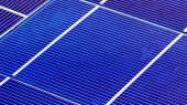 Solární panel buněčné elementy komponenty, zobrazení makra